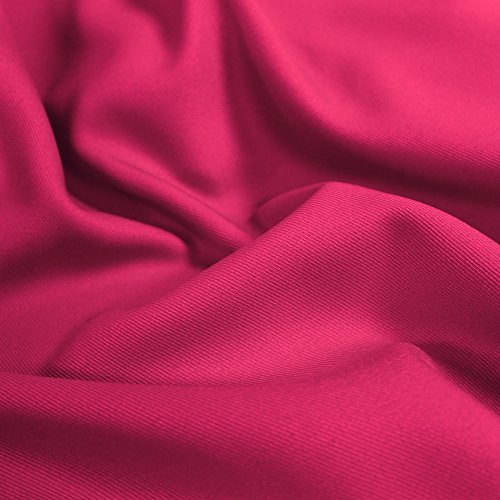Used, Fuchsia Solid 60'' Poly Gabardine Fabric by the Yard for sale  Delivered anywhere in USA