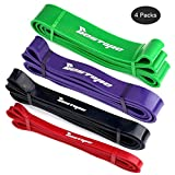 BESTOPE Exercise Bands Set-Latex Resistance Bands Resistance Strap Exercise Loop Crossfit Bands with different Power for Strength Weight Training Home Fitness Travel Yoga
