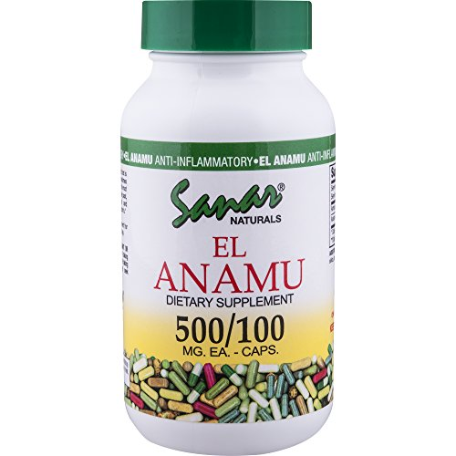 El Anamu Capsules 500mg,100 Count - Pure Digestive Herbal Supplement, Supports Prostate Health ()