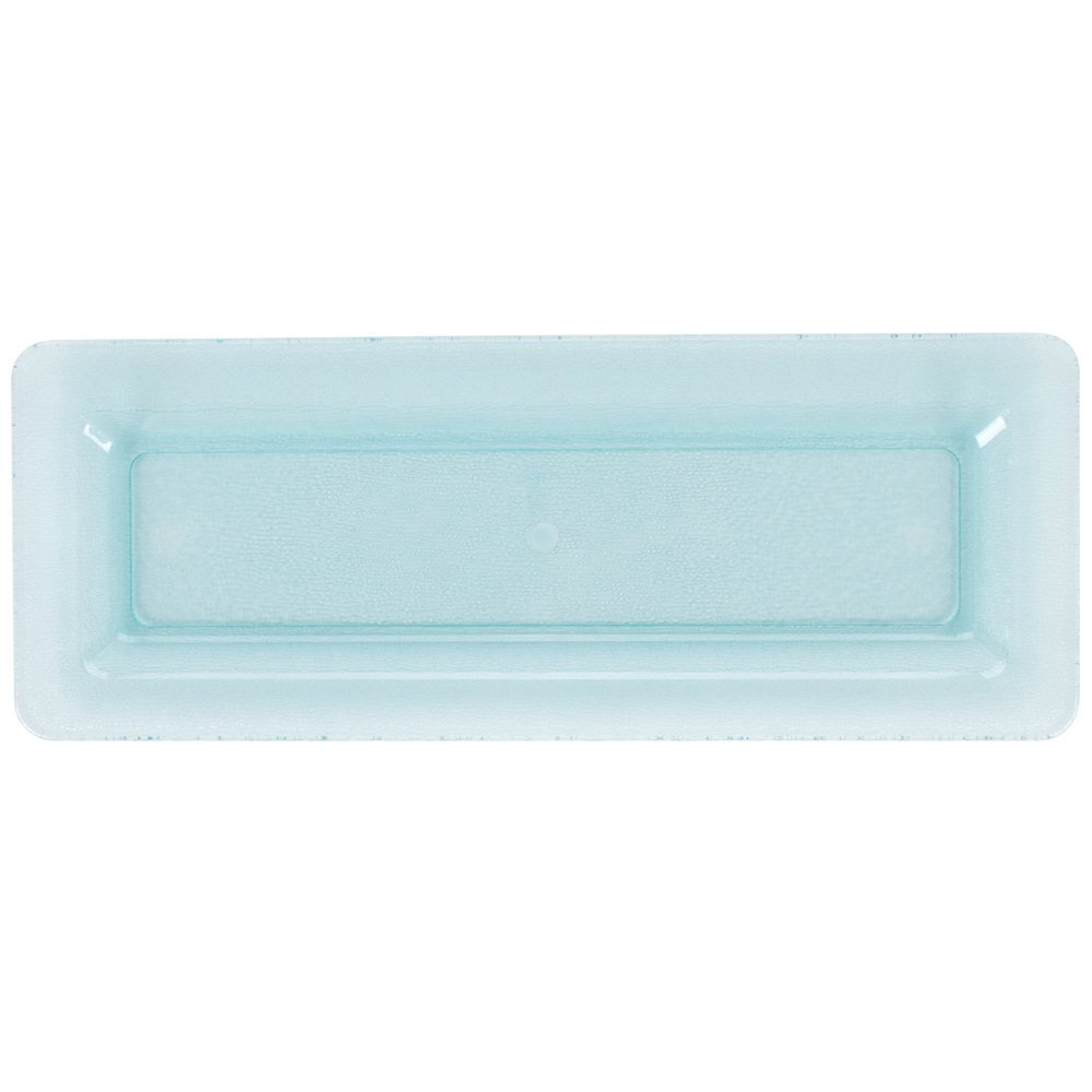 GET HI-2260-JA Cache 8 1/4'' x 21 1/2'' Jade Polycarbonate Display Tray - 3/Case