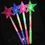 Flashing Light Effect Sticks Color Changing Strobe for Party Luminous Hollow Star Glow Light Stick Wand Concert Performance Party Prop Toy - Random Color