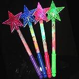 Connoworld Luminous Hollow Star Glow Light Stick Wand Concert Performance Party Prop Toy - Random Color