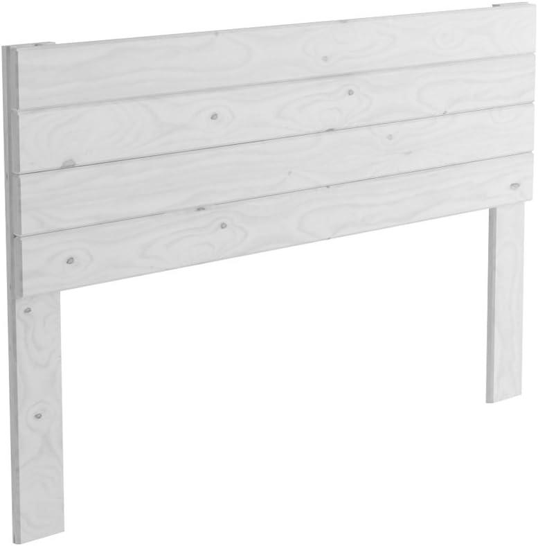 Lufe Testa 4/testiera con Gambe 100x4x90 cm Bianco Nordico
