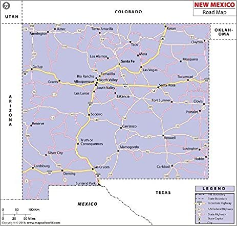 Amazoncom New Mexico Highway Map 36 W x 3438 H Office Products