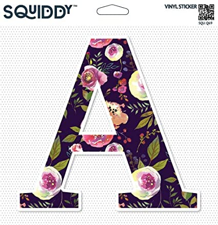 Amazon.com: Squiddy Floral Letter A Pretty Roses Design   Vinyl