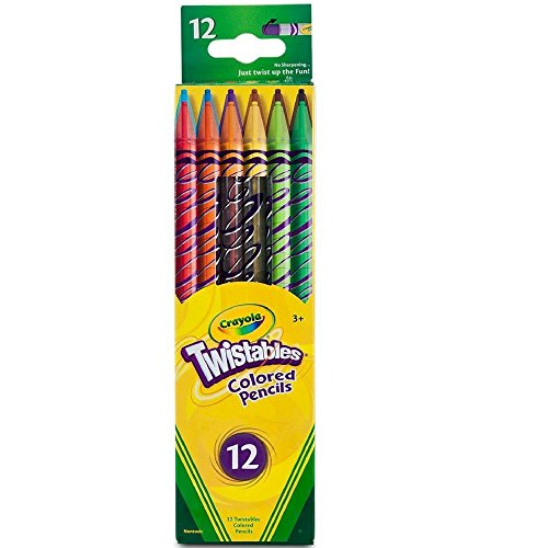 Crayola Twistables Colored Pencils, No Sharpening Required, 12 -
