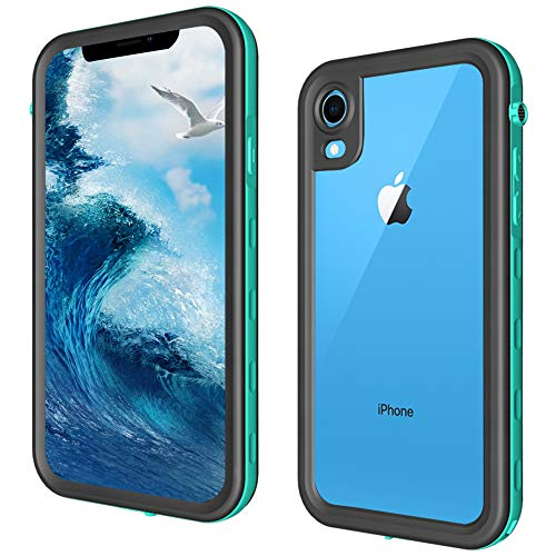 ShellBox iPhone XR Waterproof Case, Full Body Protective with Built-in Screen Protector Snowproof/Waterproof Case for iPhone Xr Case 2018.(6.1 inch, Teal)