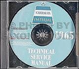 1965 Chrysler CD Repair Shop Manual Imperial New Yorker 300 Newport LeBaron