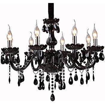 black crystal chandelier lighting. lightinthebox black crystal chandelier with 8 lights modern home ceiling light fixture flush mount pendant lighting n
