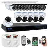 GW Security 16 Channel HD 2592TVL Outdoor/Indoor 5MP 1920P CCTV Video Security Camera System with Pre-Installed 4TB HD, Motion Email Alert, Smartphone& PC Easy Remote Access (White) Review