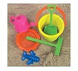 McToy Educational Products - 6 Piece Sandbox Beach Set - Bucket, Shovel & more... [Toy] - Sandbox Beach set includes 6 pieces