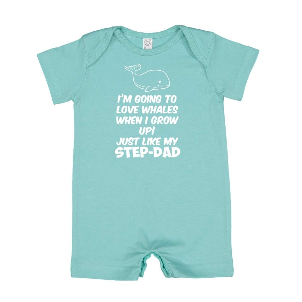 Baby Romper Just Like My Step-Dad Im Going to Love Whales When I Grow Up