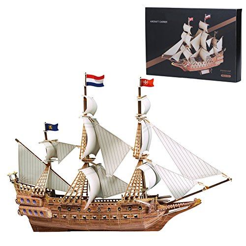 MammyGol 3D Learning DIY Toys Educational Birthday Gifts, Free Jigsaw Galleon Puzzles--229 Pieces (R2d2 Diy Costume)