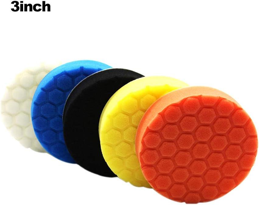 5PCS 3//4//5//6//7 Inch Buffing Sponge Polishing Pad Kit Set for Car Polisher Buffer 7inch