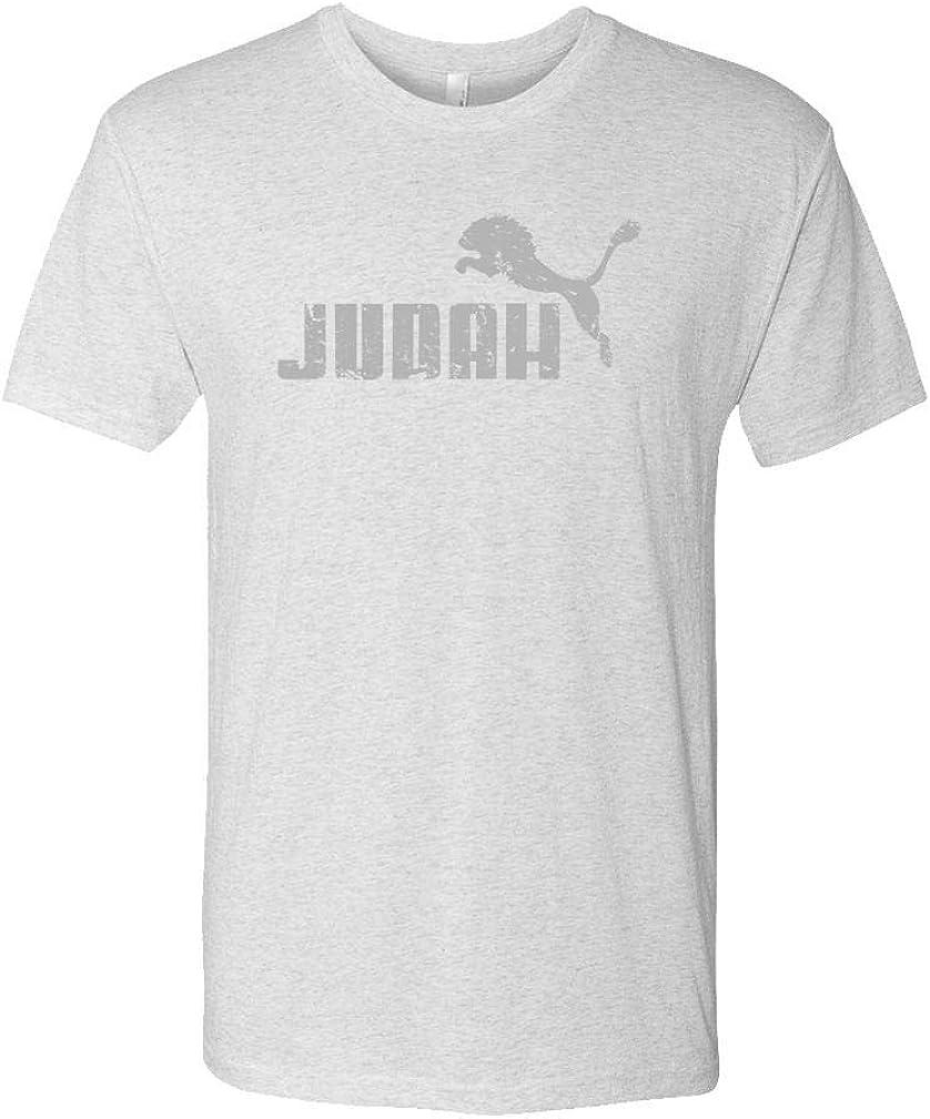 Judah Jumping Lion Mens Cotton T-Shirt Parody Faith Savior