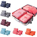 PETRICE 6 in 1 Travel Laundry Pouch Cosmetics Makeup Bag Travel organizer (Color May Vary)
