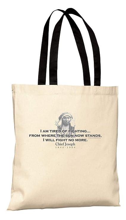 d0828aa6948 Amazon.com   ThinkerShirts Tote Bag - Chief Joseph Quote - I am ...