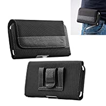 "iPhone 6 6s Plus/iPhone 7 Plus Belt Clip Holster, Miadore Black Horizontal Leather Cellphone Pouch Carrying Sleeve Holder with Magnetic Closure for Apple iPhone 7 Plus/ Galaxy S7 edge/Note 4/Note 5/S6 EDGE+/Galaxy J7 - 5.5""inch"