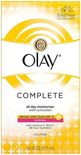 Olay Complete All Day UV Moisturizer, SPF 15, Normal Skin - 6 oz