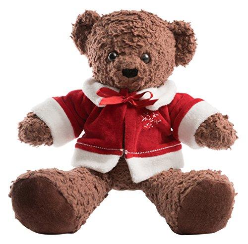 (Bears For Humanity Christmas Sherpa Bear Stuffed Toy, Dark Brown,)