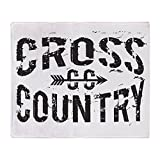 CafePress - Cross Country - Soft Fleece Throw Blanket, 50''x60'' Stadium Blanket