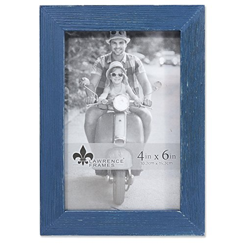 Lawrence Frames Woods 4x6 Charlotte Weathered Navy Blue Picture Frame