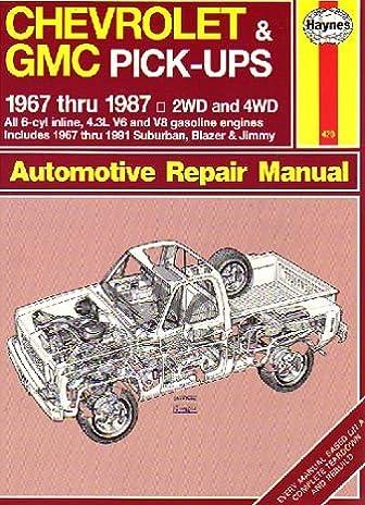 Chevrolet repair user manuals user manuals array chevrolet u0026 gmc pick ups automotive repair manual 1967 thru 1987 rh amazon com fandeluxe Image collections
