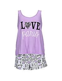 em & alfie Women's Plus Size Tank and Short Pajama Set