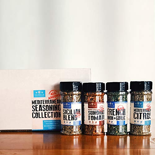 The Spice Lab Mediterranean Seasoning Collection - Ultimate Culinary Gift Set - Perfect for All Around Cooking