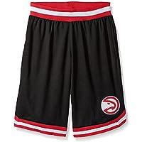 fan products of UNK NBA Men's Mesh Basketball Shorts Woven Active Basic, Team Logo Black