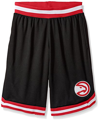 fan products of NBA Men's Atlanta Hawks Mesh Basketball Shorts Woven Active Basic, XX-Large, Black