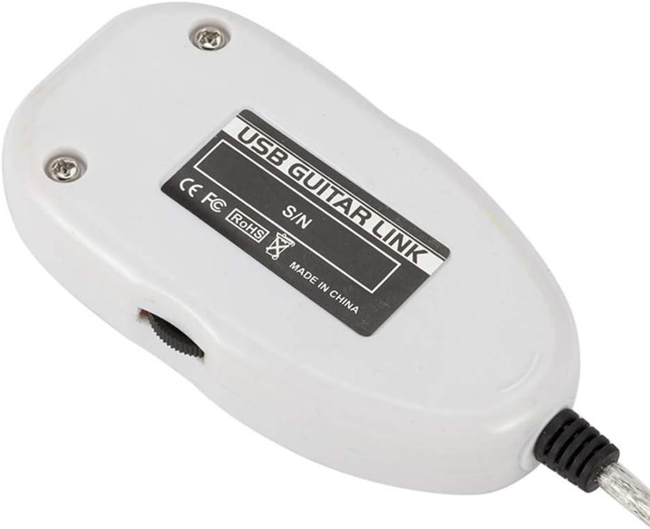Gitarren-zu-USB-Schnittstellenkabeladapter Audio Connector Recorder f/ür PC//Computer