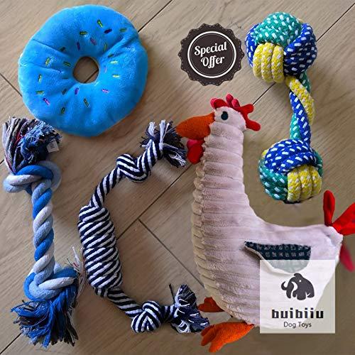 BUIBIIU Dog Toys Small to Medium Teething Toys Puppy Chew Toys Plush Toys