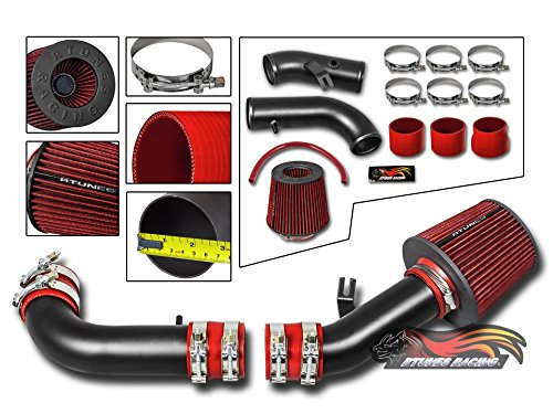 Velocity Concepts MATT BLACK Short Ram Air Intake Kit + RED For 99-05 Mazda Miata MX-5 Model with 1.8L L4