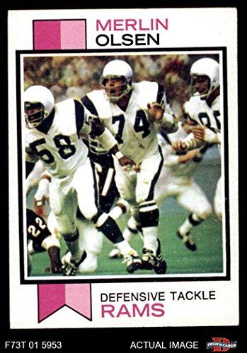 - 1973 Topps # 479 Merlin Olsen Los Angeles Rams (Football Card) Dean's Cards 6 - EX/MT Rams