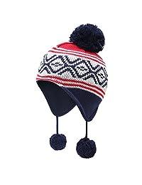 vivobiniya Toddler Baby Winter Warm Earflap Beanie Hat Kid Knit Hat 0-8y