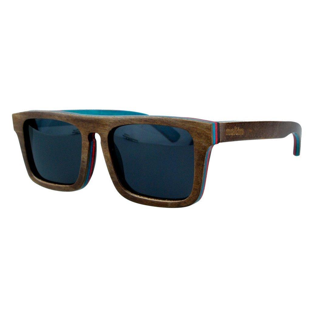 Sonnenbrille aus Ahornholz - Wayfarer Stil - 100% Handgefertigt - Polarisierende Gläser – Optimaler UV400 Schutz - CE Standards - Umweltfreundlich - Retro / Vintage Look – Modetrend für Männer und Frauen – Tuch und Bambus-Etui ANGEBOT