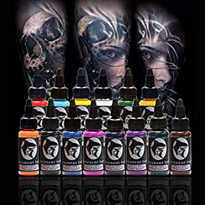 14 colores 30 ml botella/Tattoo tinta permanente cuerpo de ...
