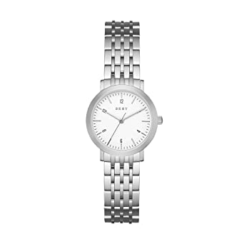 ec9286746 DKNY Women's White Dial Stainless Steel Band Watch - NY2509: Amazon.ae