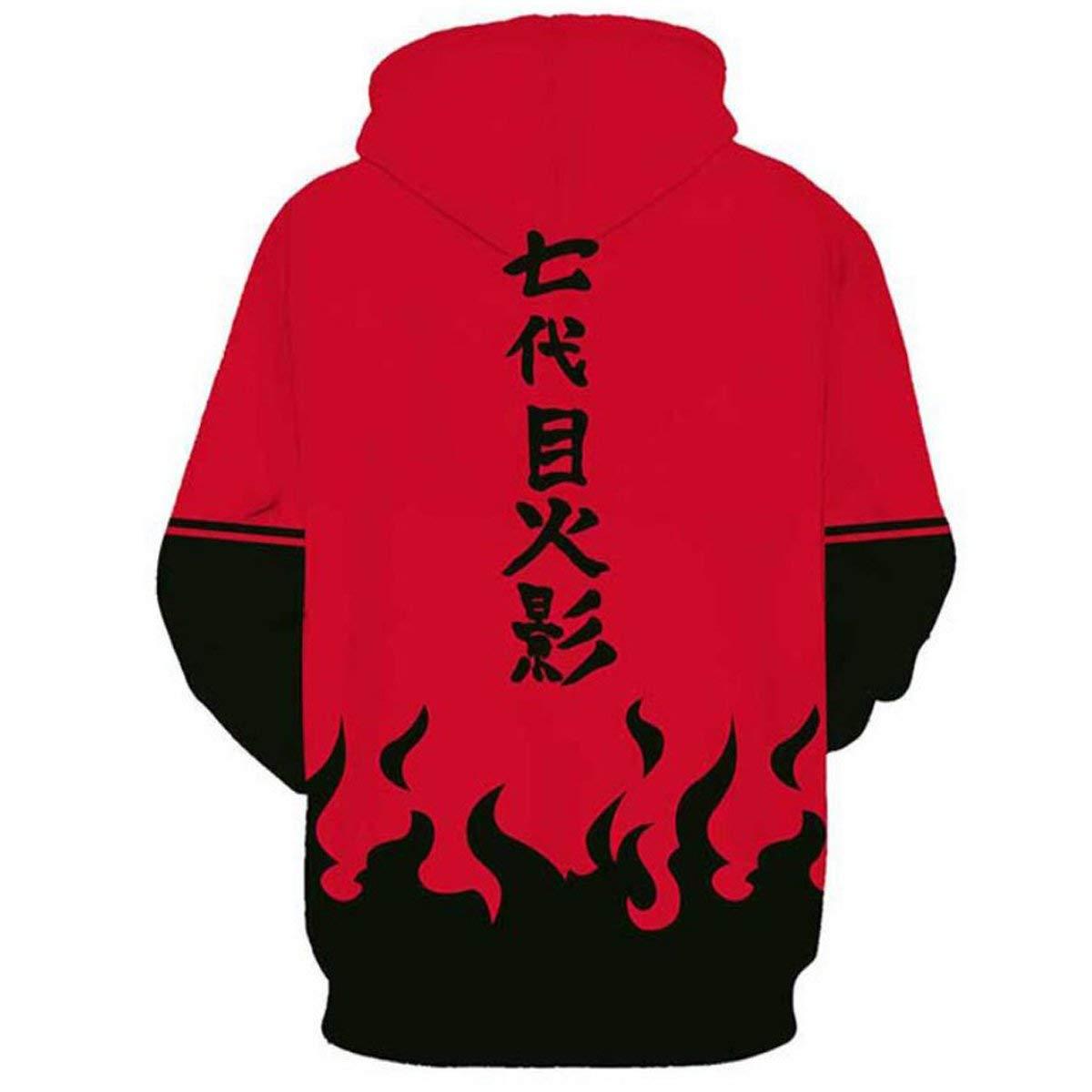 Nsoking Japanese Anime Naruto Cosplay Costume 3D Printed Uchiha Hoodie