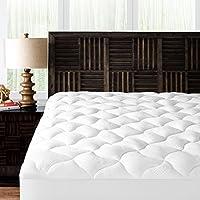Mandarin Home Collection Ultra Soft Rayon Derived from Bamboo Plush Mattress Topper - Premium Hypoallergenic Mattress Pad - Queen