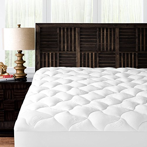 Foam Mandarin (Mandarin Home Collection Ultra Soft Rayon Derived from Bamboo Plush Mattress Topper - Premium Hypoallergenic Mattress Pad - King)