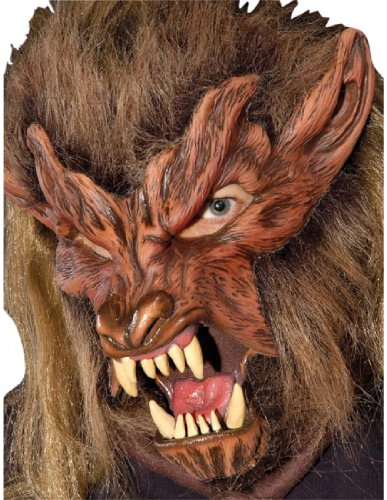 Lone Wolf Mask (Zagone Studios Women's Lone Wolf Mask One Size Fits Most Brown)