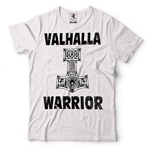 Silk Road shirt Hommes Valhall Guerrier Blanc Vikings T Tees TvqrFwT