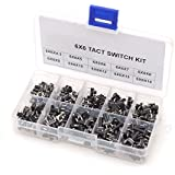 Winson-eseller 200PC/Box 6*6 Tact Switch Tactile Push Button Switch Kit, Height: 4.3MM~14MM