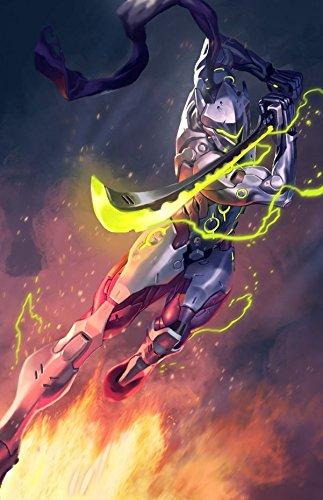 Amazoncom Xxw Artwork Overwatch Genji Poster Characters