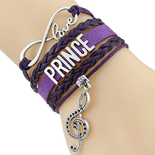 Infinity Love Prince Bracelet with Music Note Charm ()