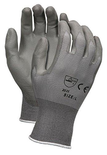 MEMPHIS Coated Gloves, M, Gray, Polyurethane, PR