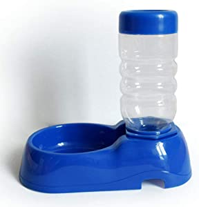 Automatic Cat/dog Sitting Drinker Does Not Occupy Local Environmentally Friendly Non-toxic Plastic Automatic Water Renewal For Medium And Large Cats,Blue