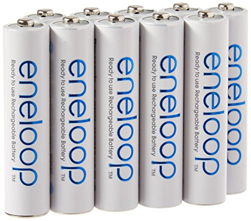 Eneloop Aaa Batteries - Eneloop TS-9RO6-4EQX AAA 4th Generation 800mAh Min. 750mAh NiMH Pre-Charged Rechargeable Battery with Holder Pack of 10